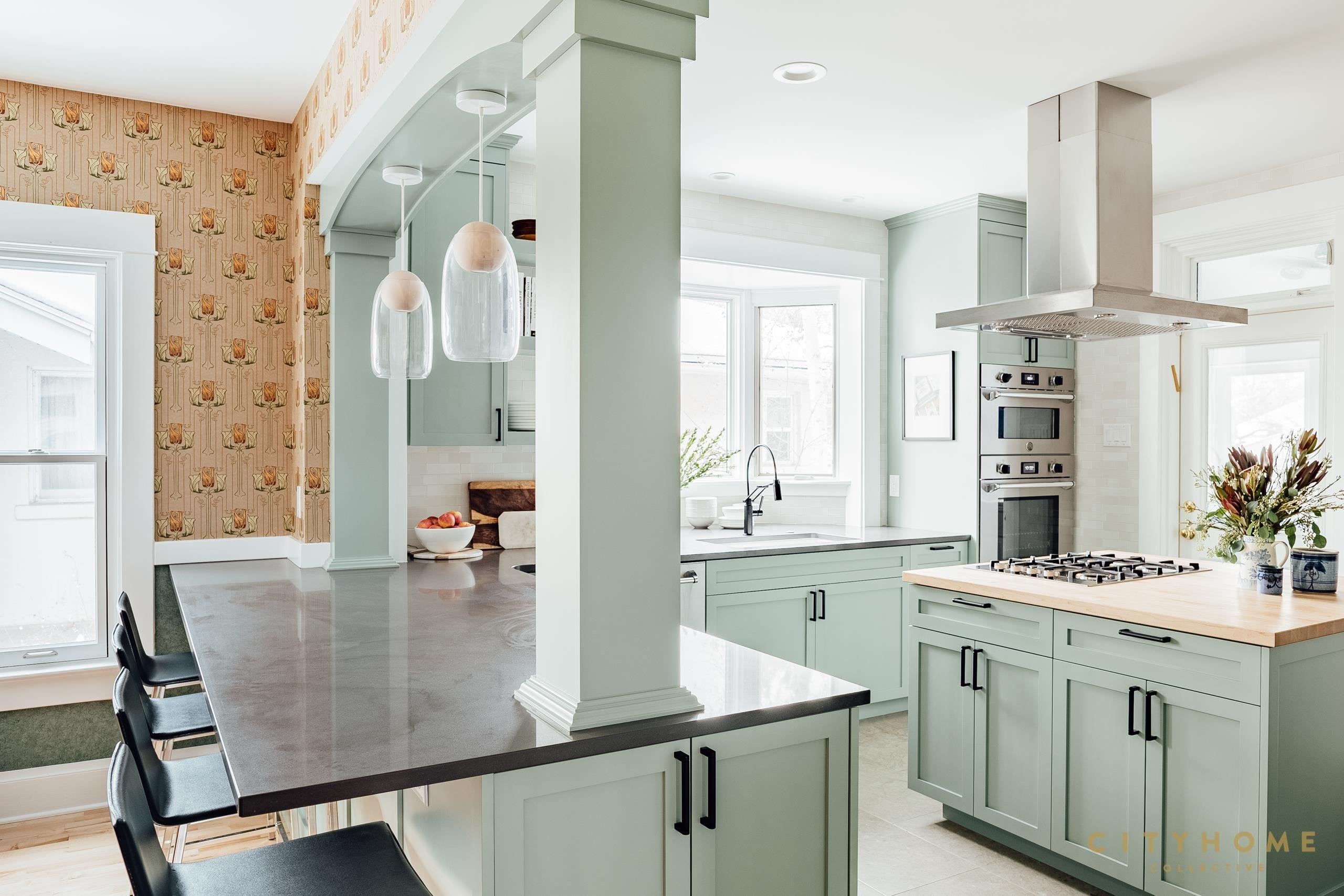 interior design cityhomecollective with images mint green kitchen kitchen inspiration on kitchen interior green id=37585