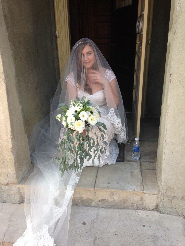 Ivy u aster wonderland dress with added cap sleeves lovely bride