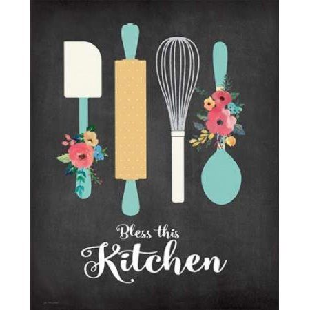 Bless This Kitchen Canvas Art Jo Moulton 24 X 30