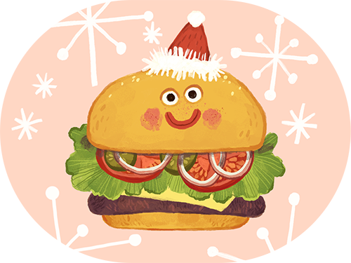Illustrated by Olga Demidova. Yummy Crowd iMessage Sticker