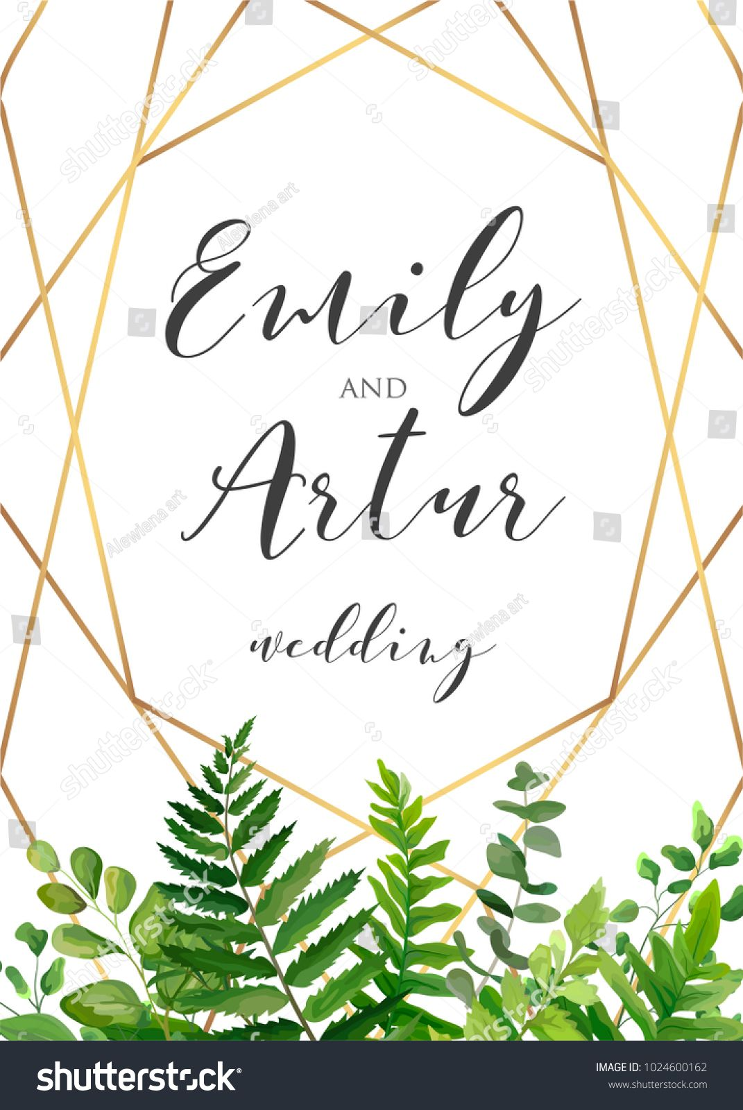 Vector botanical wedding floral invitation invite save the date vector botanical wedding floral invitation invite save the date card elegant modern design stopboris Images