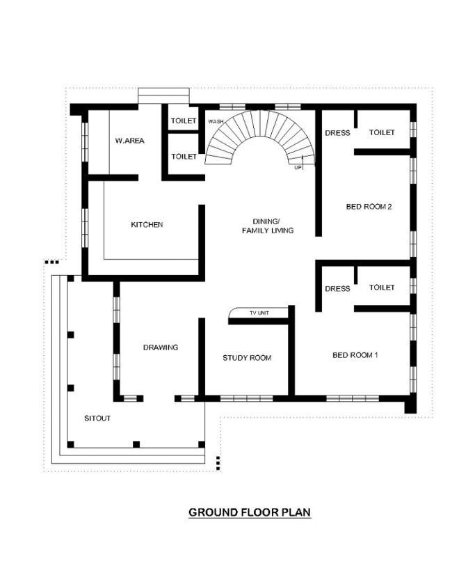 Cee    cfed bg   dt also lovely bedroom house plans kerala style sq feet awesome rh pinterest