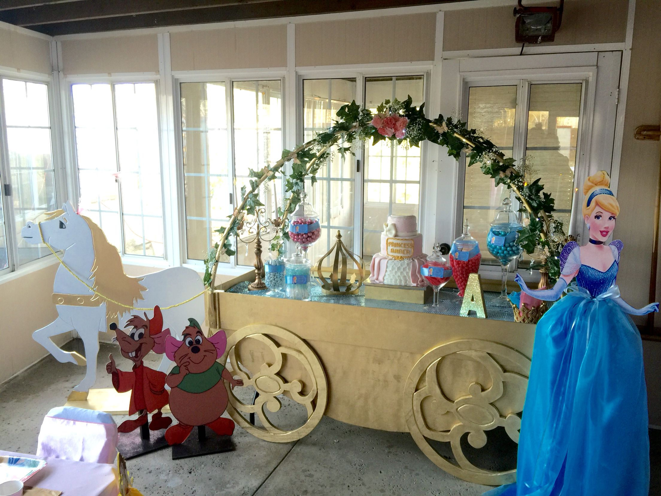 Cinderella Carriage Dessert Candy Table Decor Cutouts Design Party Kids Party Cinder Cinderella Birthday Party Cinderella Birthday Cinderella Party
