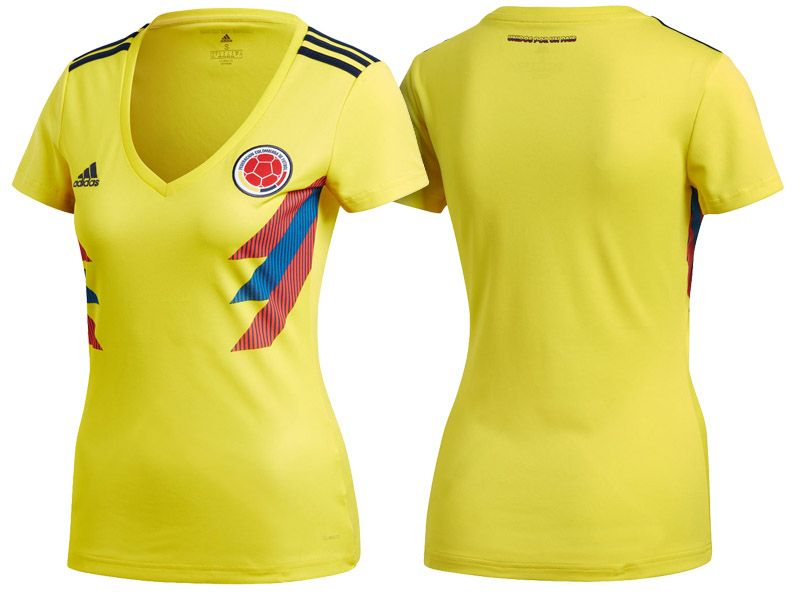 World Cup 2018 Colombia Soccer Jersey Women Football Shirt  c7ca82d62
