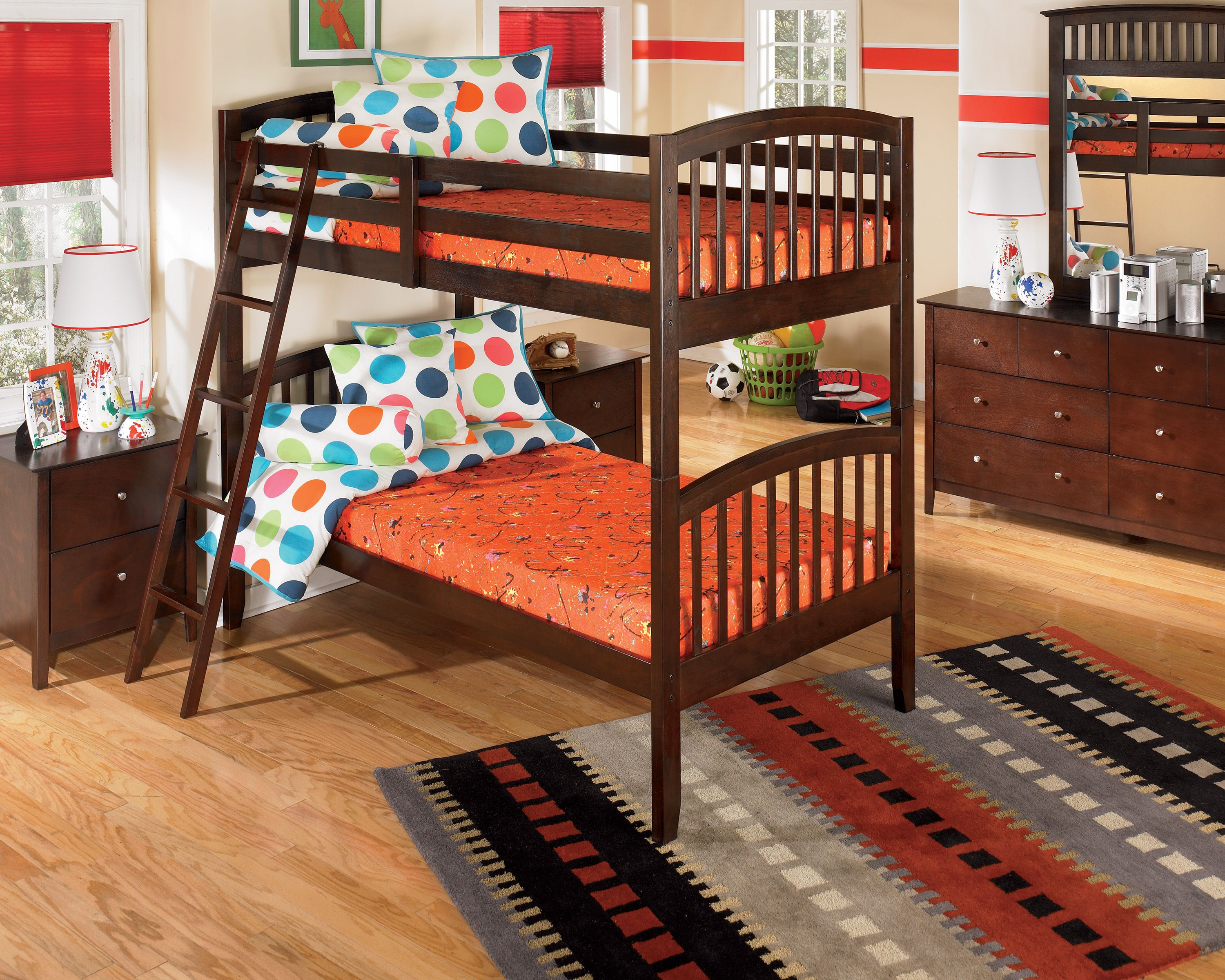 Bunk bed mattresses should be thin enough so that the safety rail for the  top bunk