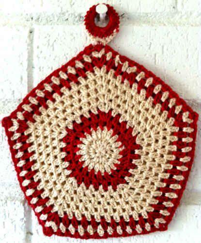 Free Crochet Pot Holder Patterns Free Crochet Five Sided