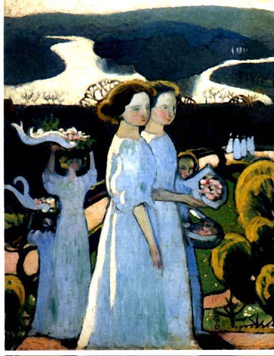 'UMZUG PASCALE', öl von Denis Maurice (1870-1943, France)