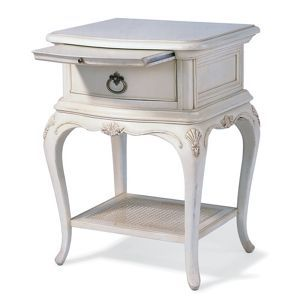Willis Gambier Ivory Painted Chateau Bedside Cabinet At