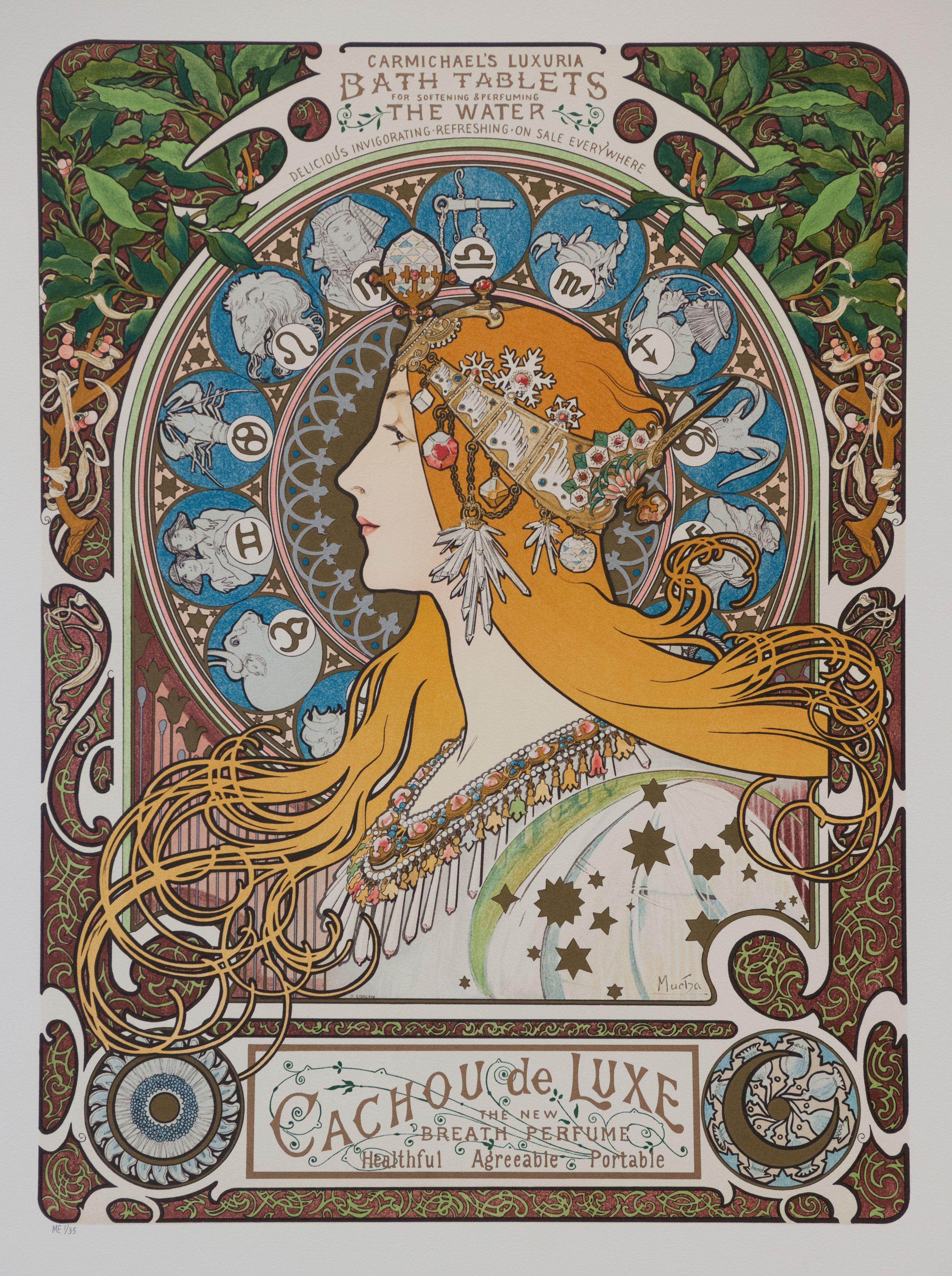 Alphonse Alfons Mucha Art Nouveau Deco Fruit Dance Flower /& FREE Print 4 Prints