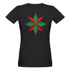 Red and Green Star Organic Women's T-Shirt (dark) > Red and Green Star > Arkmold's Den