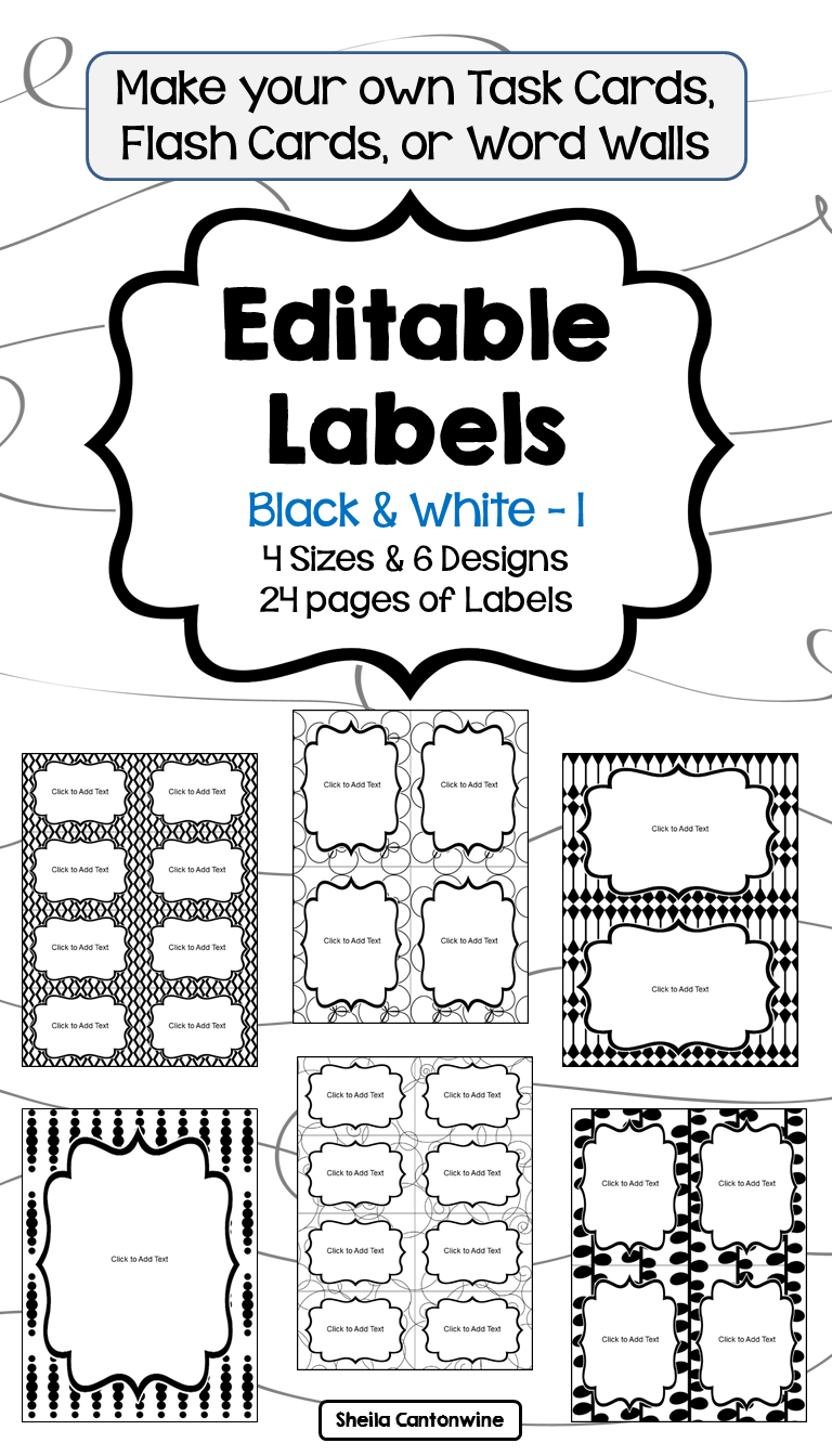 editable labels in black and white part 1 | differentiated math