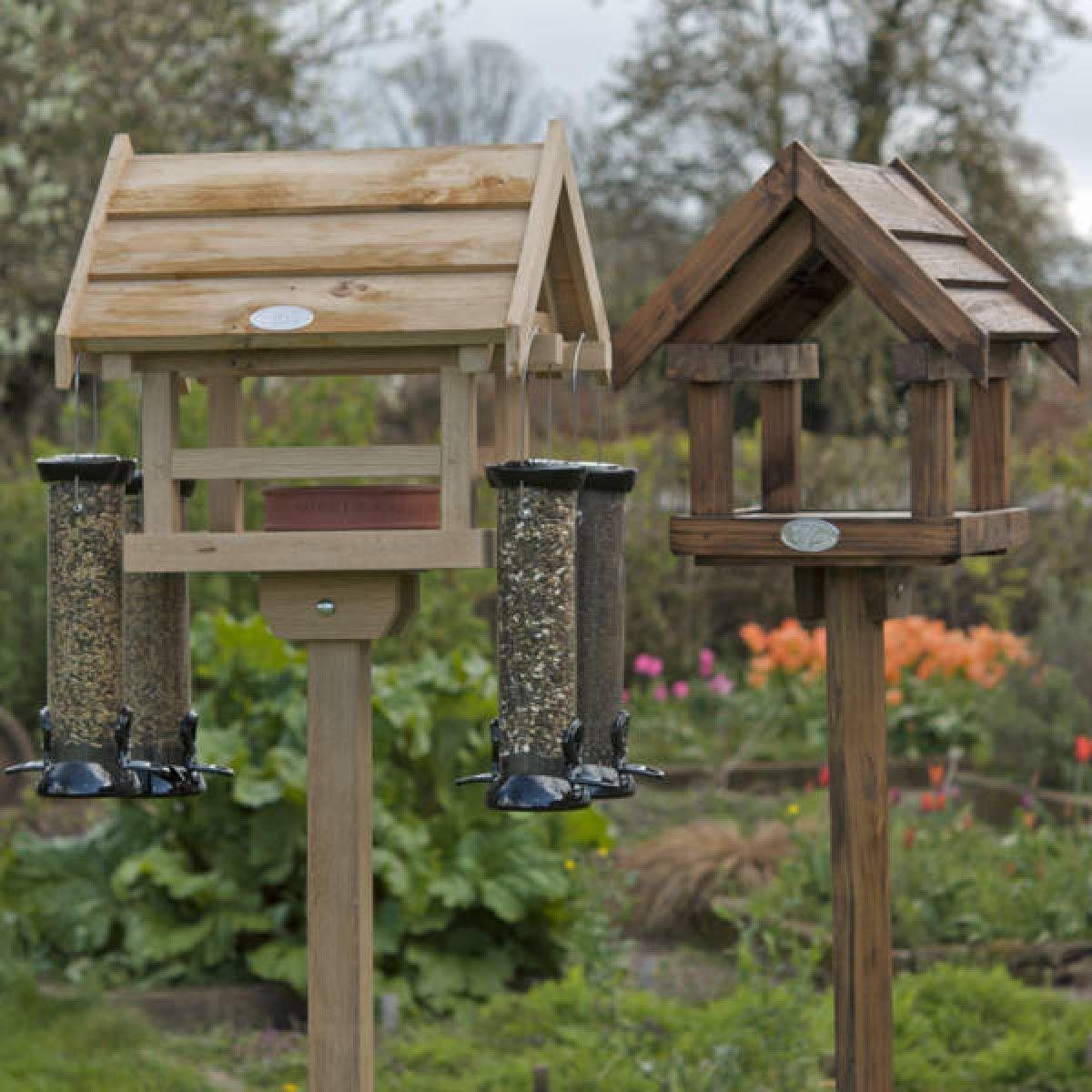 Wooden Bird Feeder Posts Bird Feeder Stands Wooden Bird Feeders Free Standing Bird Feeders