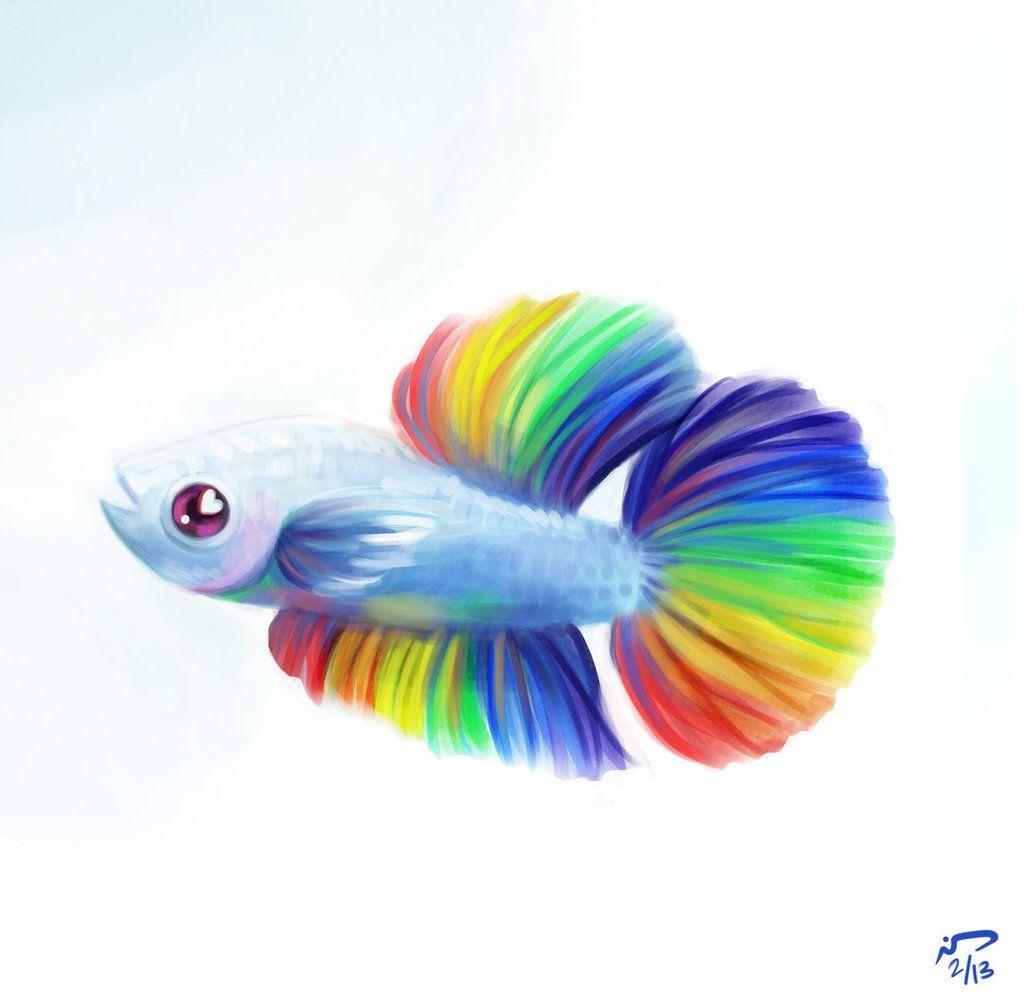 Sporty Betta By Majoh On Deviantart Fish Cartoon Drawing Fish Art Fish Drawings