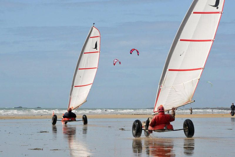 Sand Yachting Char A Voile Vacances Bretagne Quiberon
