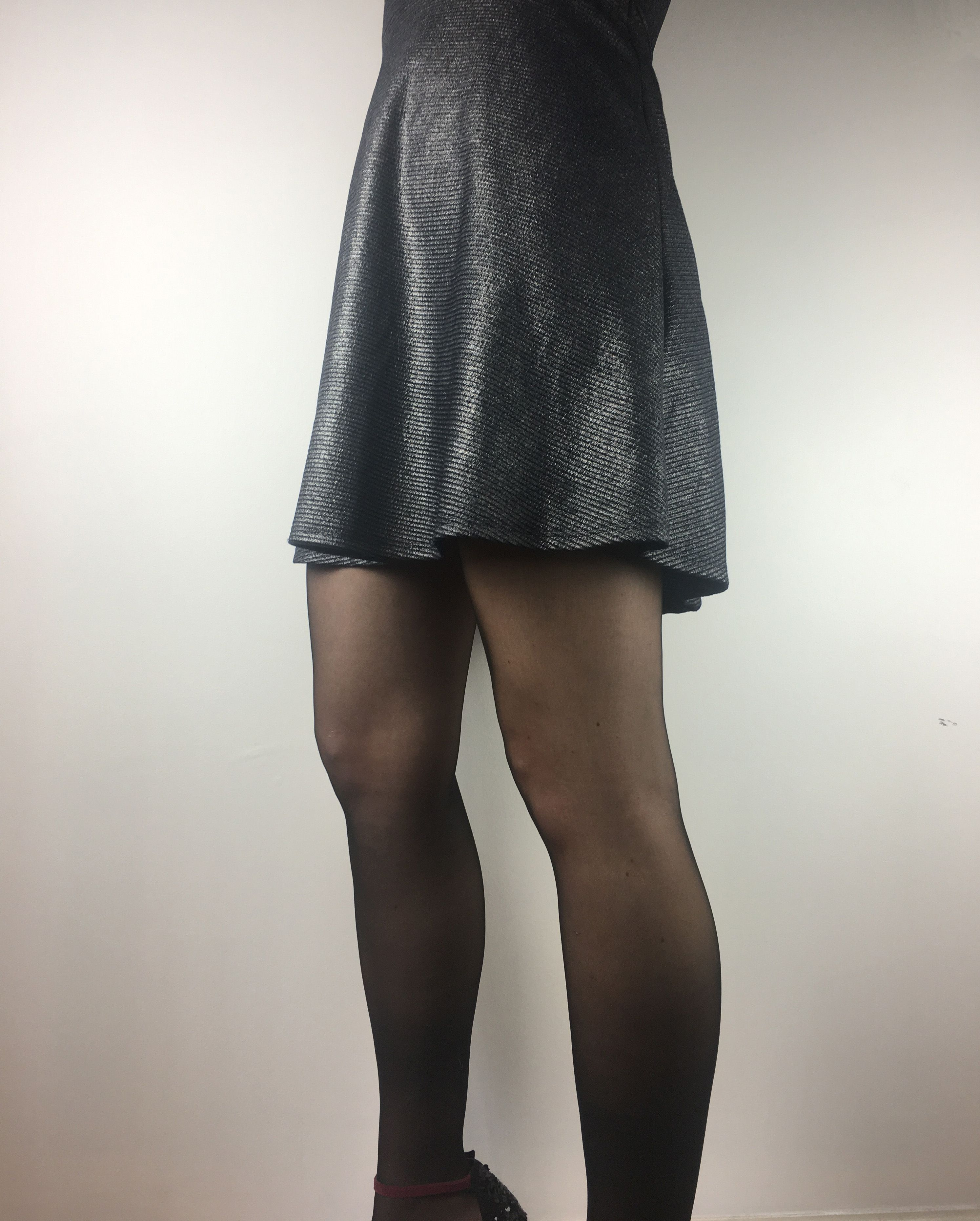 5 Ways To Wear Black Pantyhose For A Dressy Evening Look The Hipstik Style Black Pantyhose Pantyhose Outfits Wearing Black
