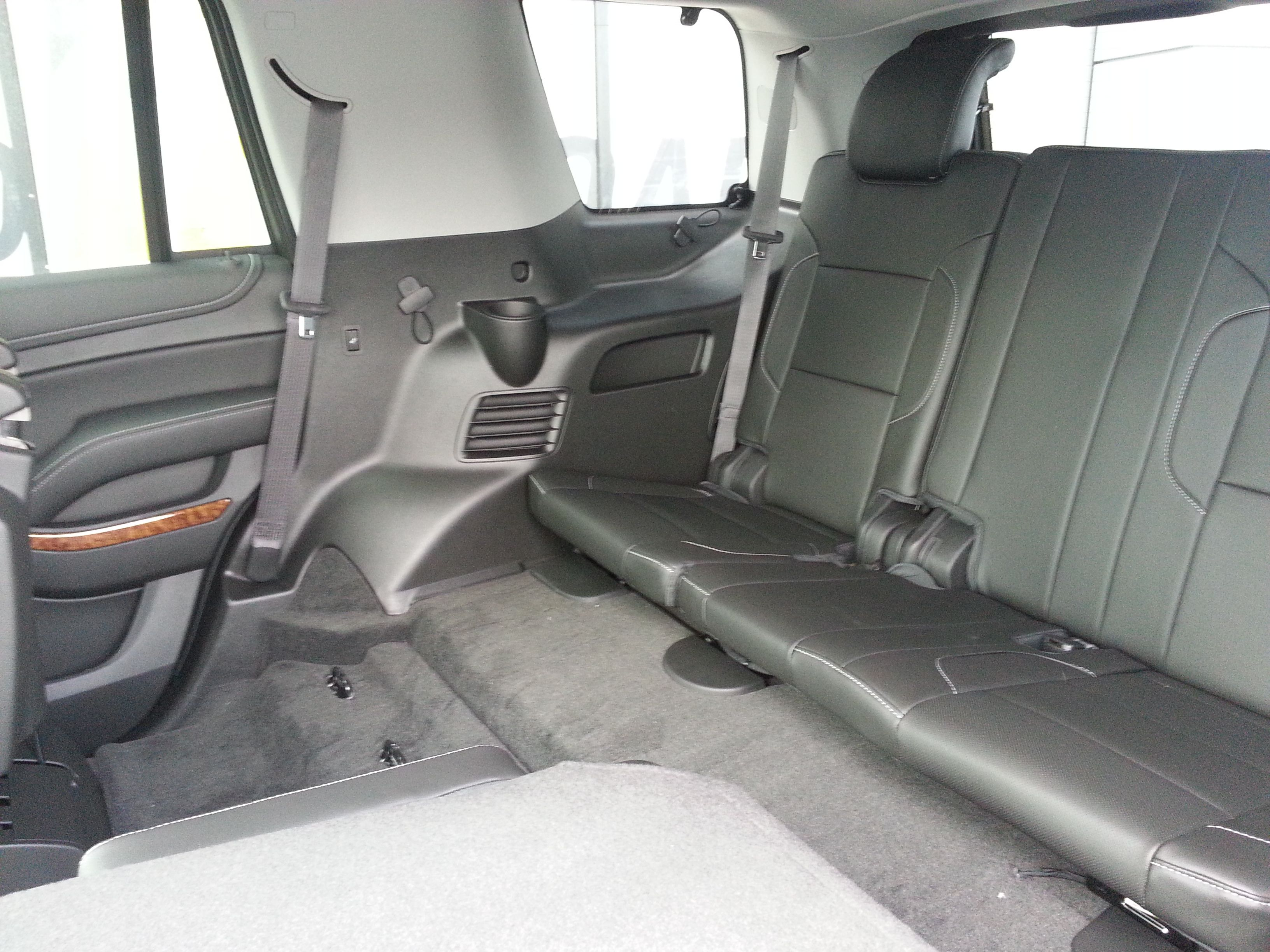 2nd 3rd row seating on the 2015 chevy tahoe the 2015