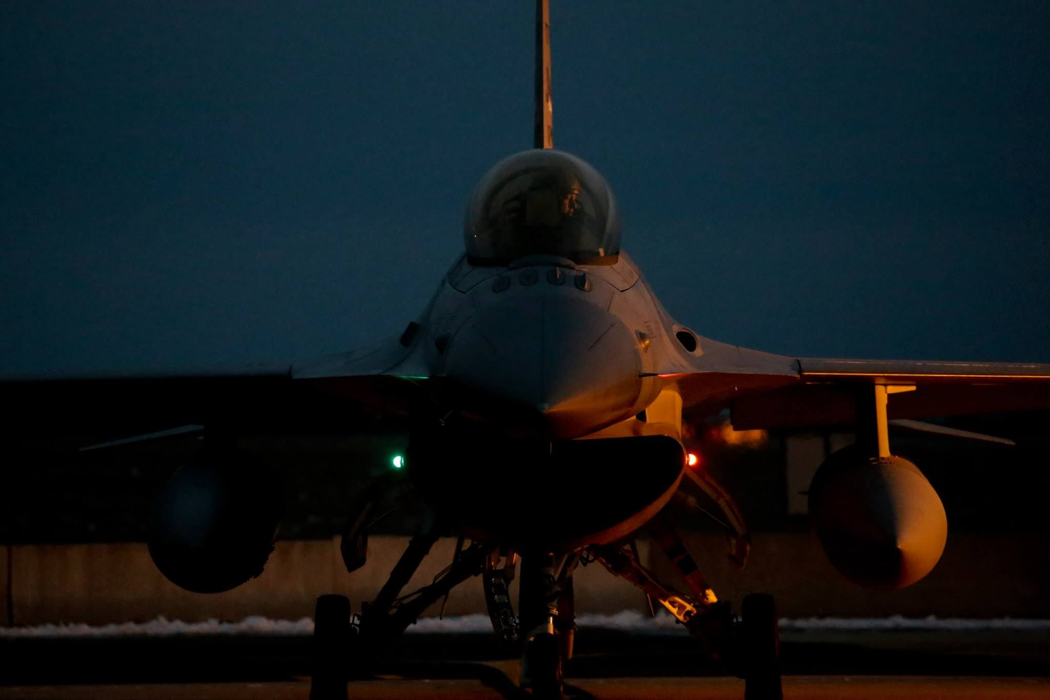 A U.S. Air Force F16 Fighting Falcon pilot from the 119th