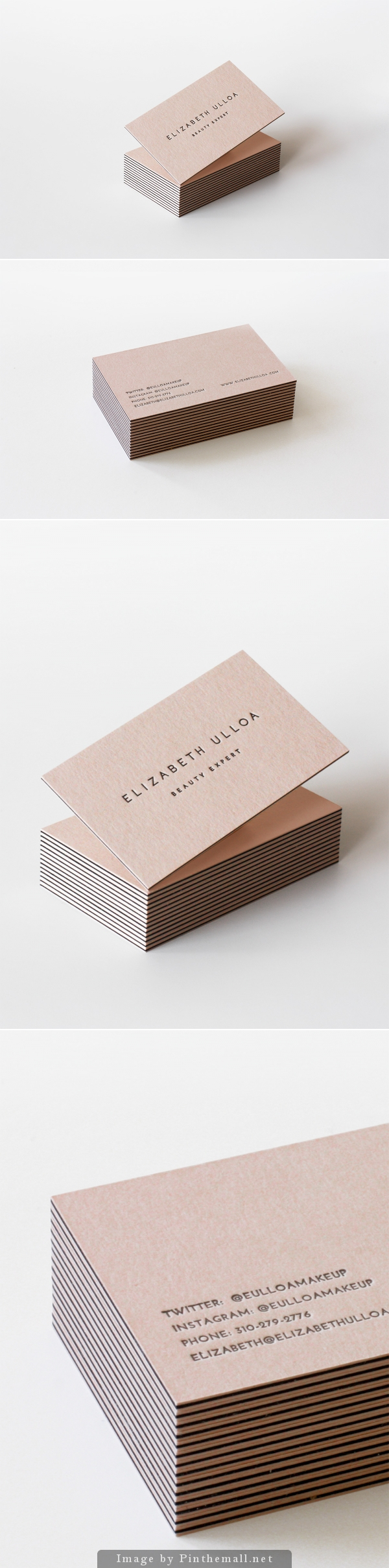 Business Cards For Elizabeth Ulloa By Julia Kostreva Creative Studio