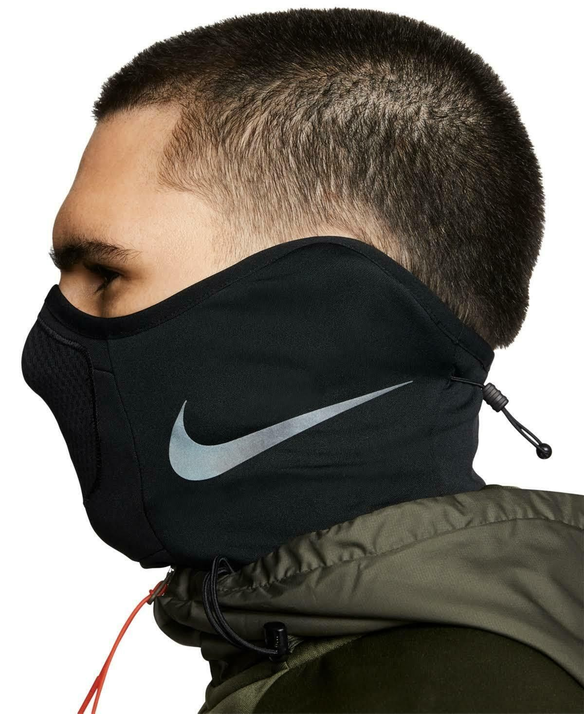 Brand New Nike Dri Fit Soccer Strike Snood Face Scarf Black White Swoosh Ebay In 2021 Mouth Mask Fashion Fashion Face Mask Mask