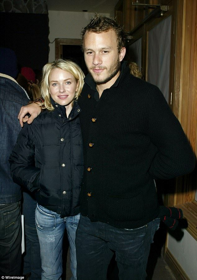 Film set romance: Naomi and Heath dated from 2002 to 2004 after falling in love while filming Australian film Ned Kelly