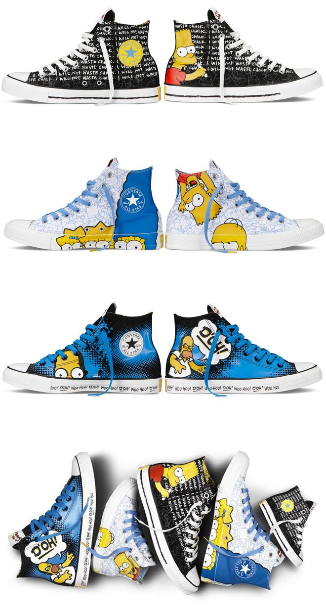 Converse lança linha de tênis dos Simpsons