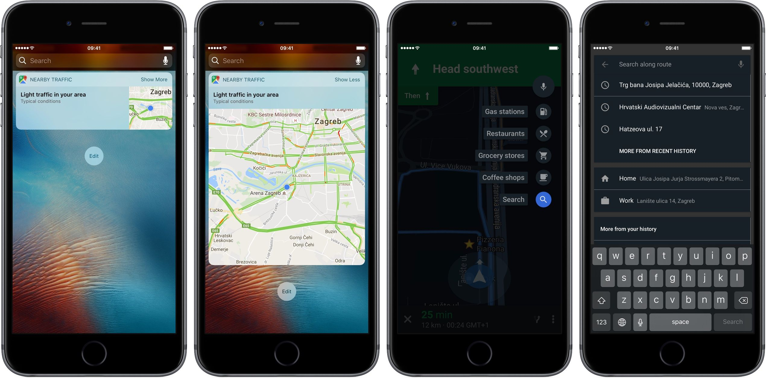 Google Maps For Ios Search Along Route Iphone Screenshot 001 Ios Update Google Maps Google Today