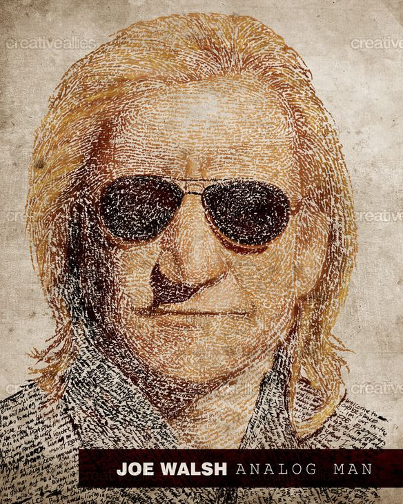 Joe Walsh Poster by graphicsyndicate on CreativeAllies.com