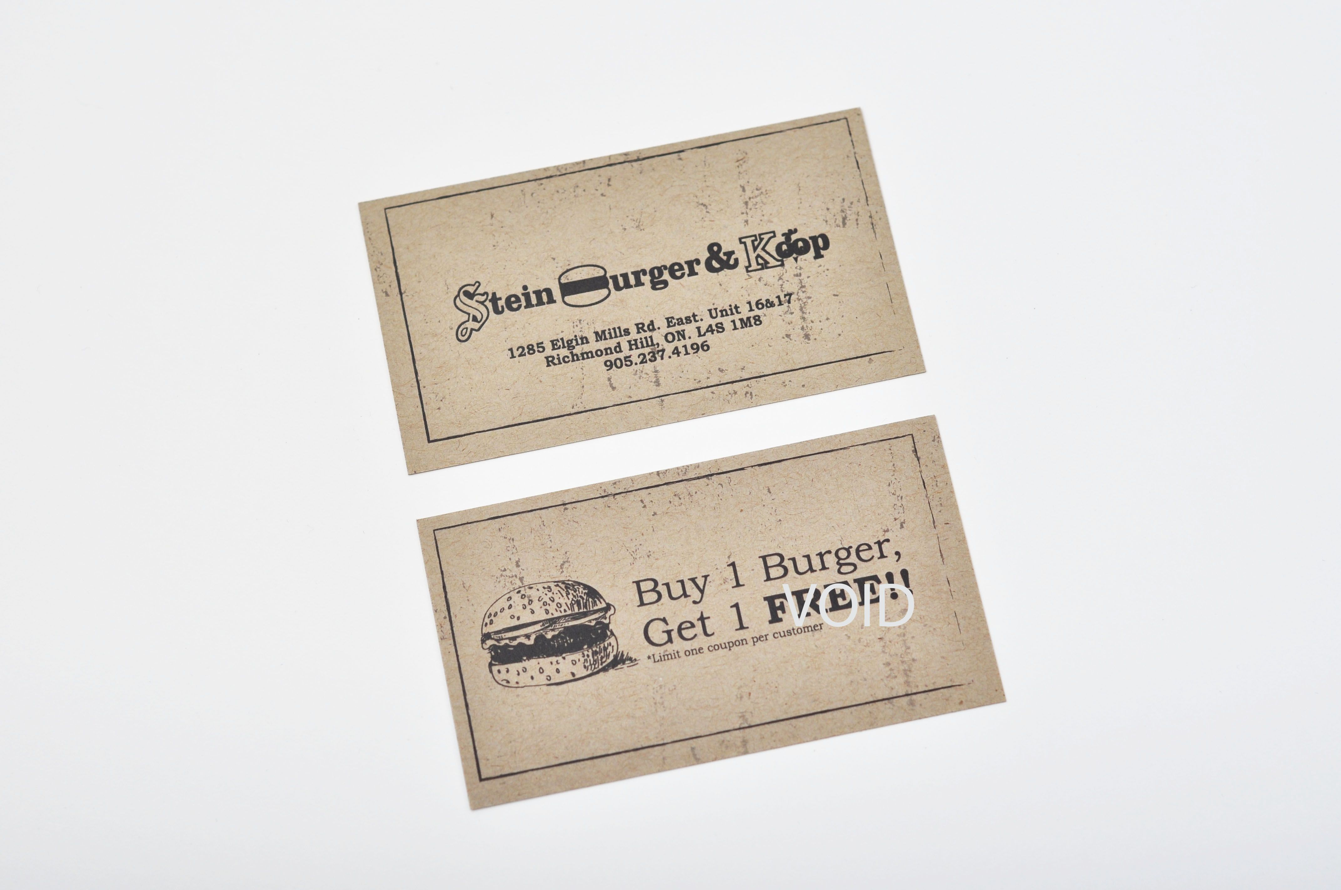 Business card printed on 14pt Kraft paper. Printed and Designed by ...