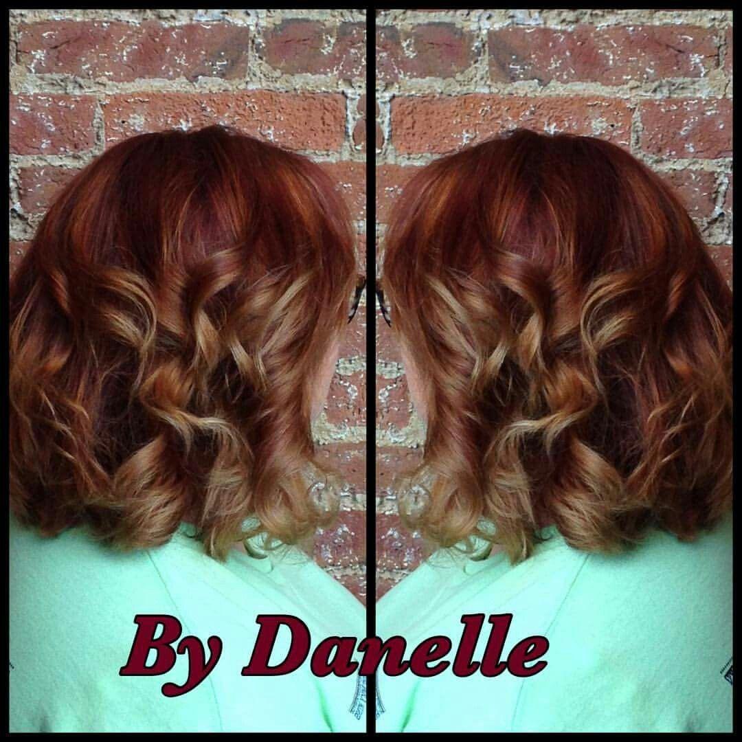 Warm redbrown to gold balayage hair color pinterest balayage