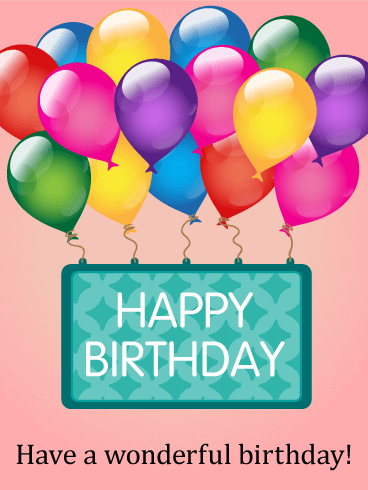 Rainbow Color Birthday Balloon Card. Special delivery! We ...