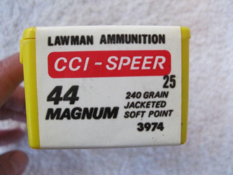 44 Magnum 240 Gr Jsp Cci Lawman Sheriff 25 Count Ammunition Ammo