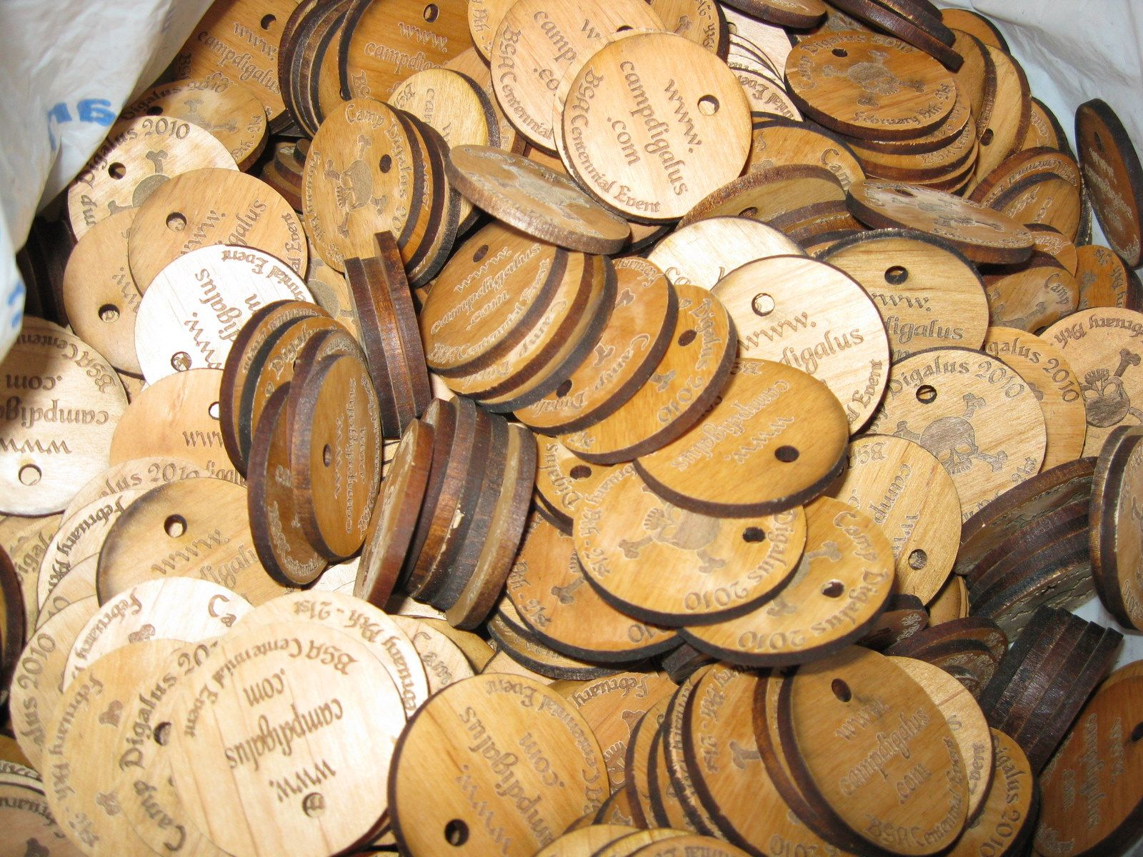 How Many Would You Like Custom Laser Engraved And Cut Wood Coins