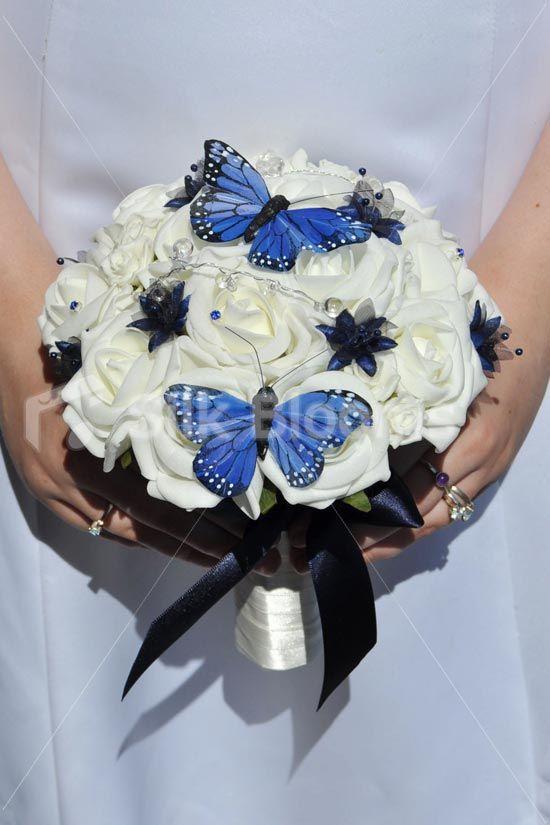 Ivory Foam Rose Bridesmaids Wedding Bouquet W Erflies