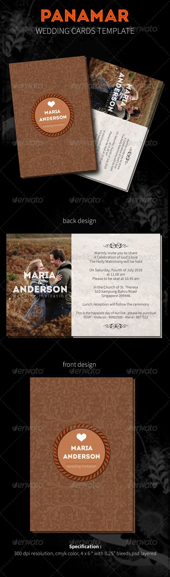 Panamar wedding cards wedding card invitation template psd downlo