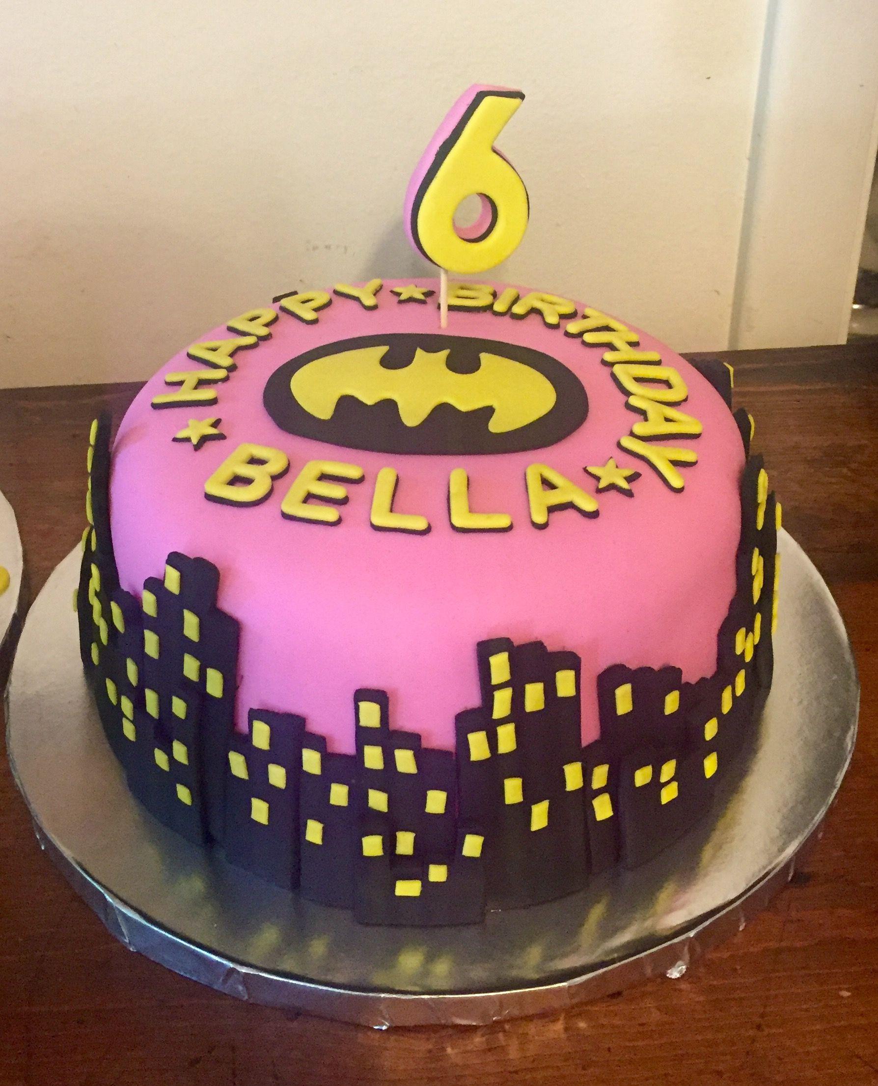 Bat Girl Cake My Custom Cakes Cupcakes And Cookies Pinterest