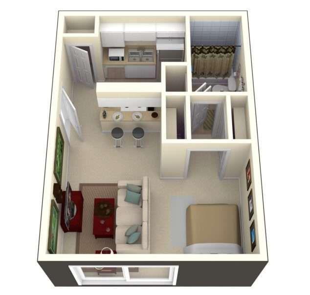 500 Sq Ft House Interior Design Square Feet Apartment Floor Plan