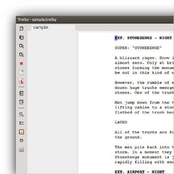 Trelby Is A Free Multiplatform Feature Rich Screenwriting Program Trelby Is Simple Fast And Elegantl Screenwriting Screenwriting Software Teaching Writing