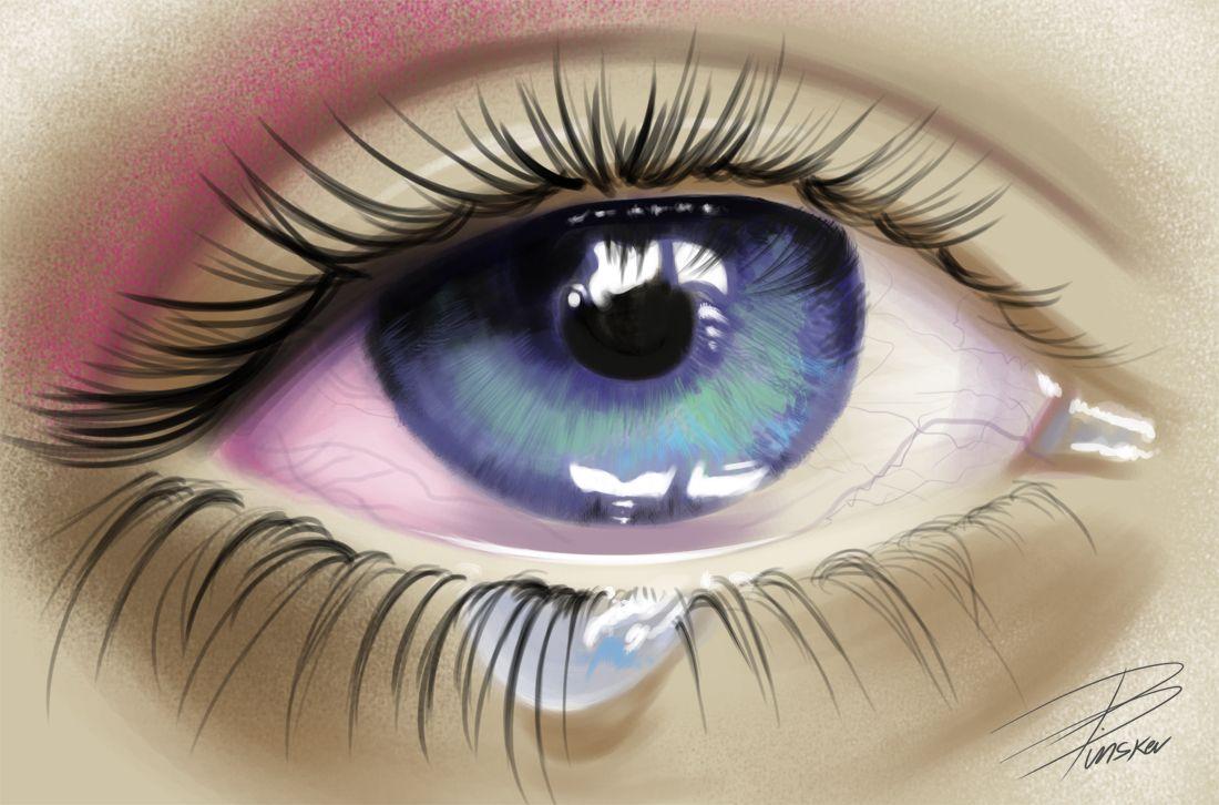 картинка глаз со слезами при этом