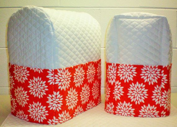 Custom 2 Piece Matching Cover Set for Kitchen Countertop Appliances (29 Different Themes Available)