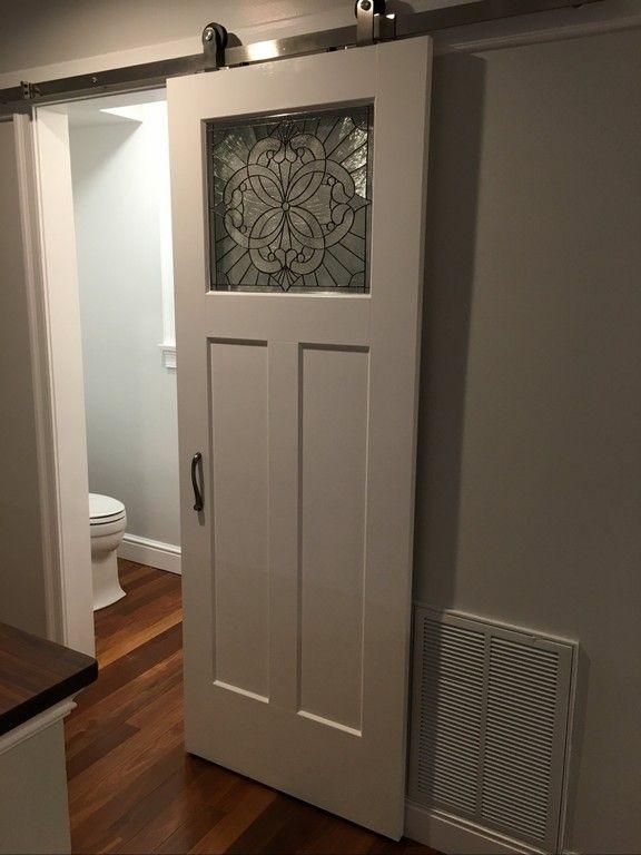 Barn Door Bathroom Privacy Sliding Bathroom Door Home ...