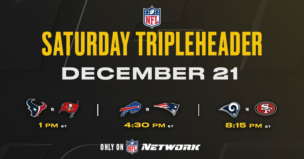 How to watch nfl networks 2019 saturday tripleheader live