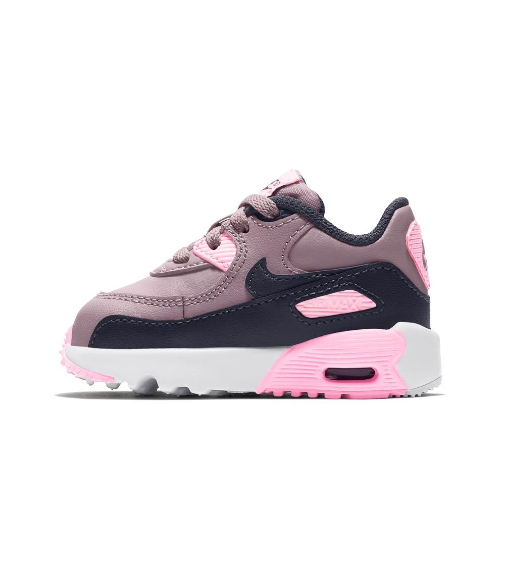 Original Boys Girls Nike Air Max 90 Toddlers TD Trainers Black White Gold Pink