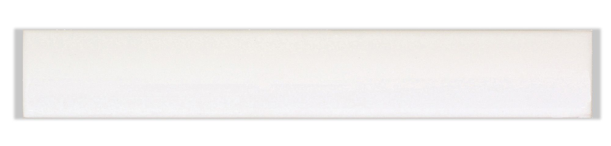 TG Bevel White Ceramic Border Tile, (L)200mm (W)25mm   Border tiles ...