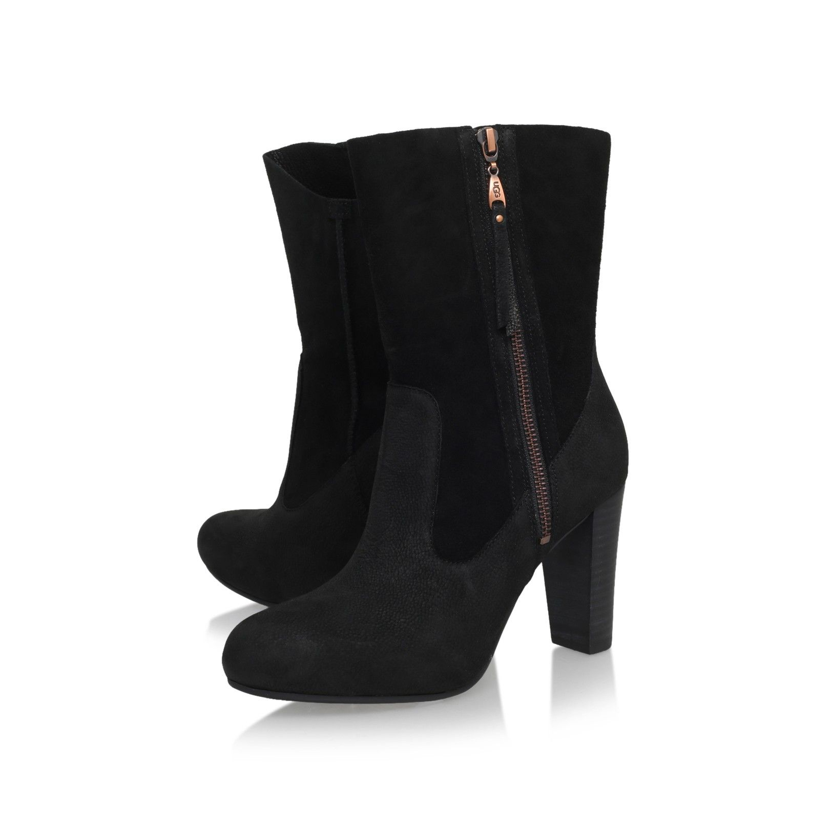 athena black mid heel ankle boots from UGG Australia