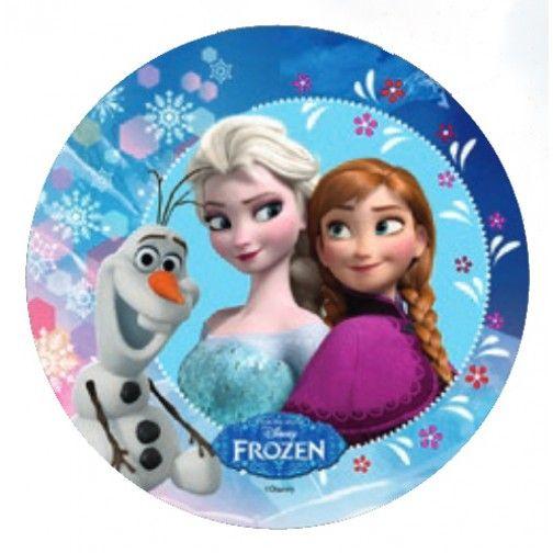 Tortenaufleger Disney Frozen Eiskonigin Anna Elsa Olaf 21cm