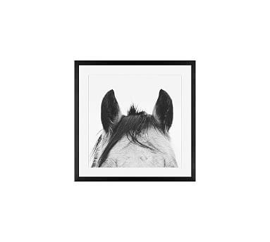 Listening Framed Print by Jennifer Meyers, 25 x 25\