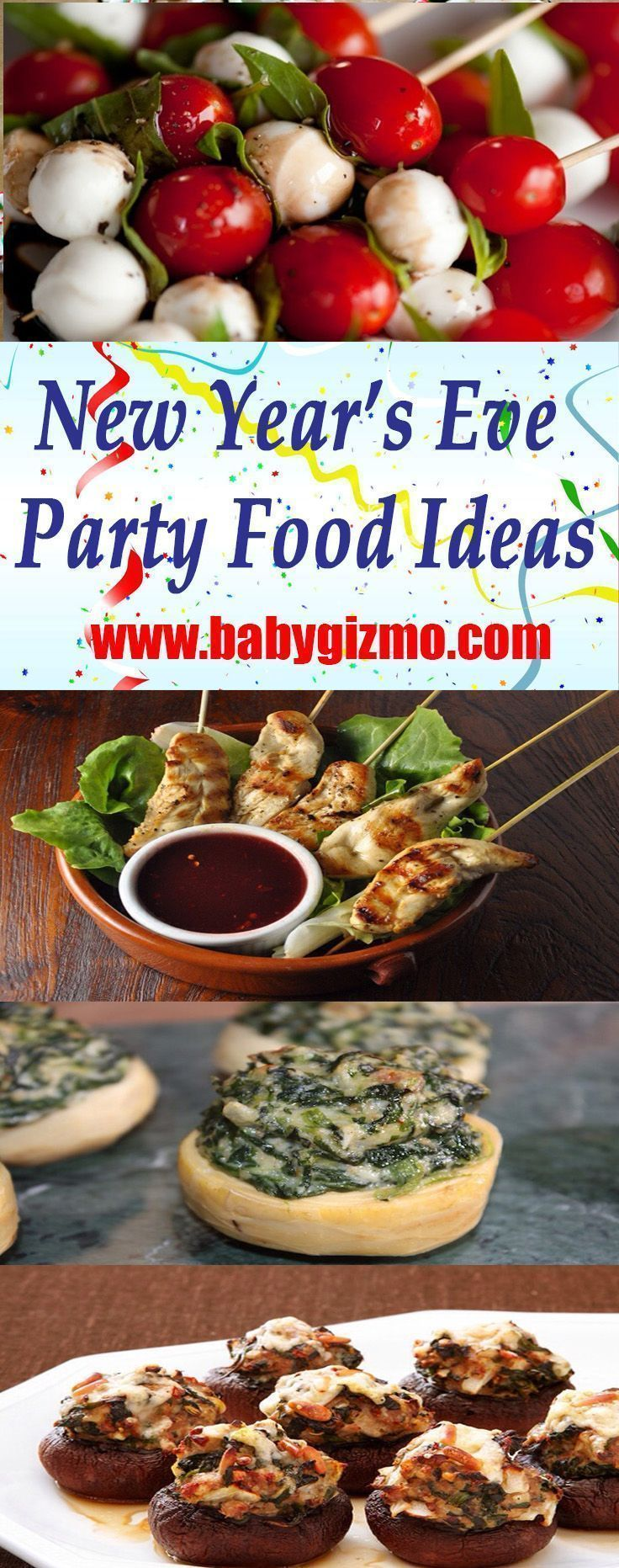 Fingerfood-Ideen für Silvesterpartys - Kreativ #newyearsevefood #NYE #Party # ... #newyearsevefood