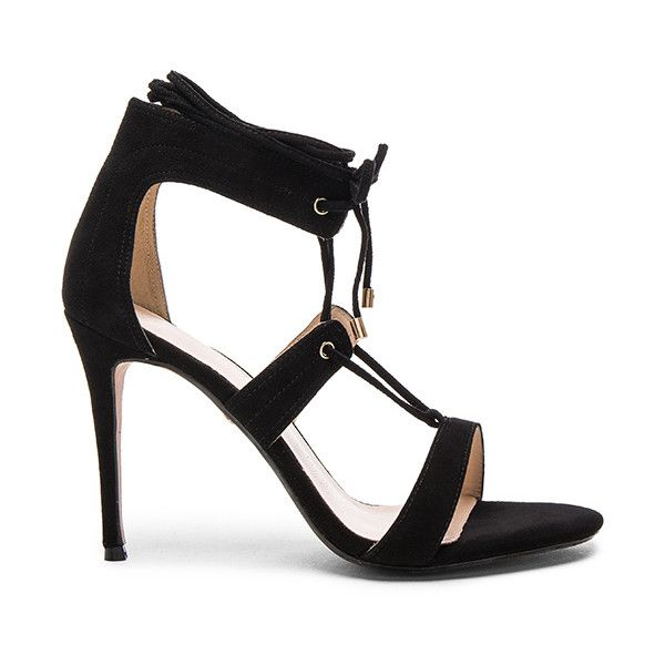 RAYE Byron Heel ($245) ❤ liked on Polyvore featuring shoes, pumps, heels, laced up shoes, heel pump, wrap shoes, laced shoes and stitch shoes