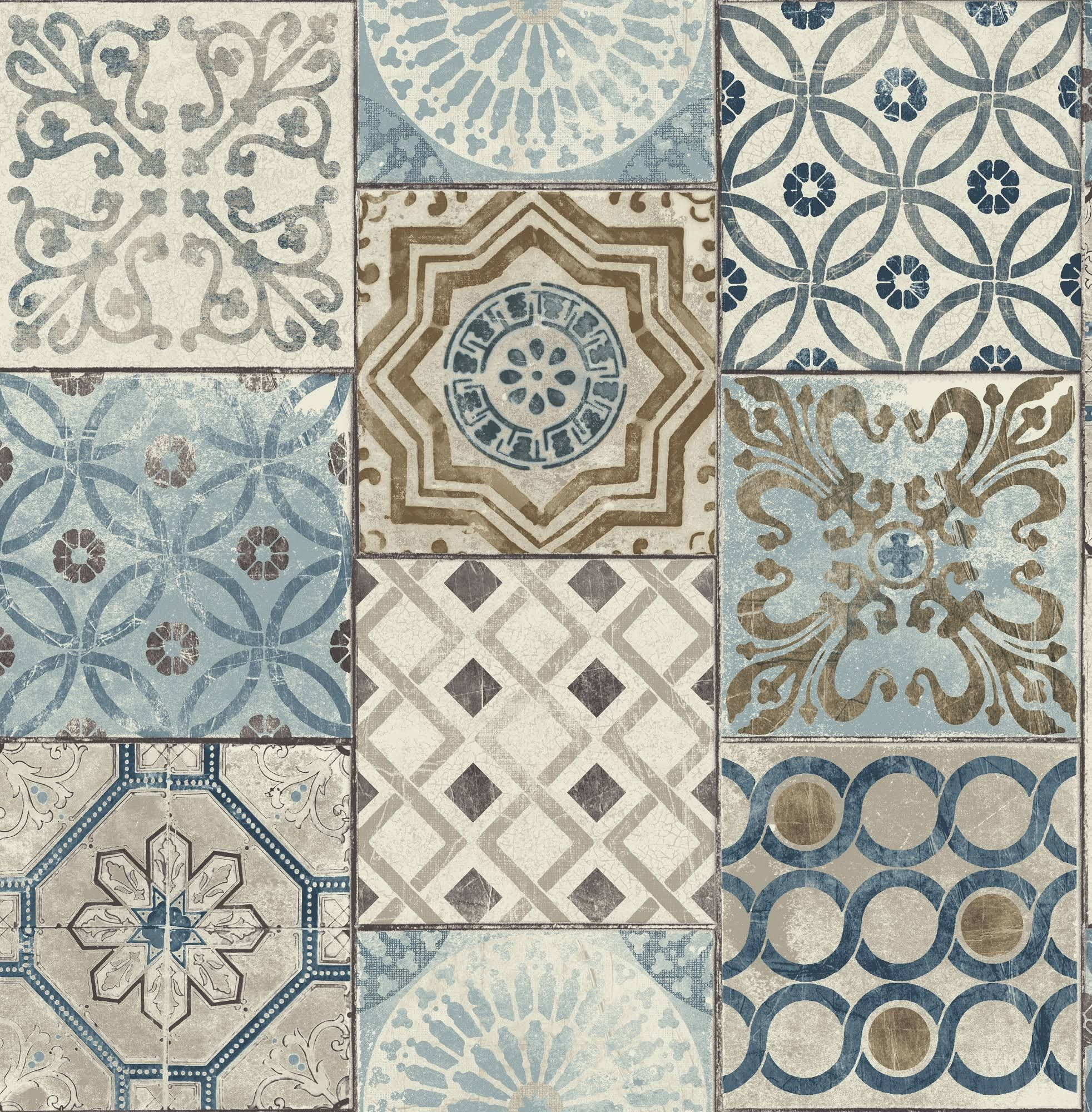 Nextwall Moroccan Style Peel And Stick Mosaic Tile Wallpaper Blue Copper Grey Google Shopping Moroccan Tile Peel And Stick Wallpaper Tile Wallpaper