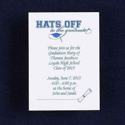 Hats off to the Graduate - Open House Invitation   graduation ...